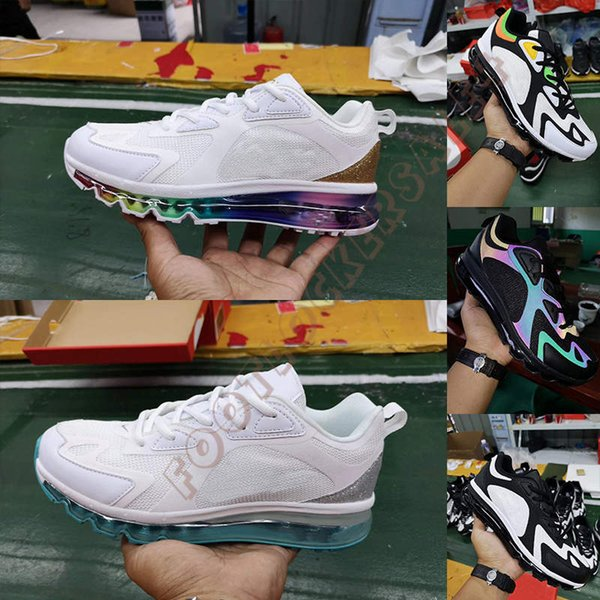 2019 200 Men Running Shoes Triple White Black Rainbow Laser Mens Trainers 200s Man Designer Sports Casual Sneakers Size 7-12 Chaussures