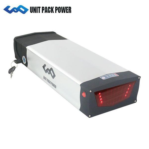 Batería eléctrica de gran alcance para batería eléctrica 48V 20Ah Batería de litio 48V 1000W Rack posterior con cargador 30A BMS 3A Fast