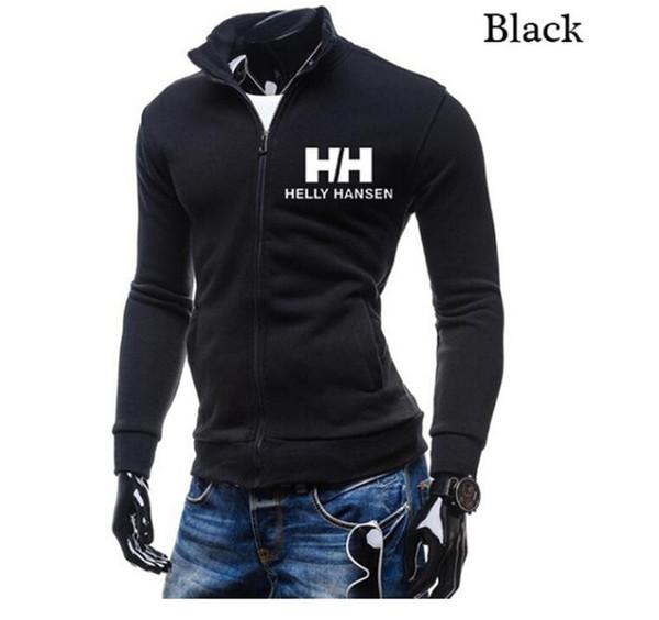 Doble H Cardigan Diseñador Sudadera Moda Stand Collar Cremallera Hombre Streetwear Sólido Nuevo Casual Ropa para hombre