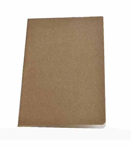 Hot Aale A5 Clássico Do Vintage Simples Clássico Kraft Caderno De Papel para o Diário Programar Memorando Sketchbook Kraft Em Branco Página Interna Material Escolar Presente