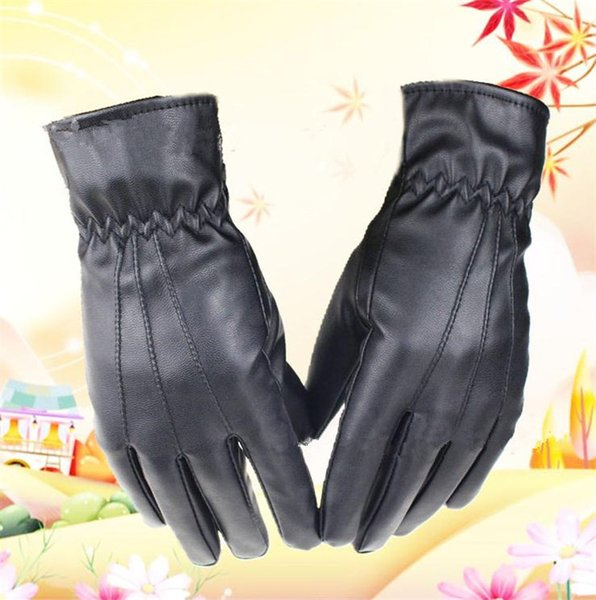 Newest leather gloves Women outdoor winter driving PU leather touch screen Gloves fashion Keep warm