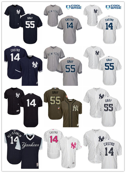 pretty nice 5ce07 b1ea2 2019 Custom New York Men'S Women Youth NY Yankees Jersey #55 Sonny Gray 14  Starlin Castro Baseball Jerseys From Gzf608, $16.5 | DHgate.Com