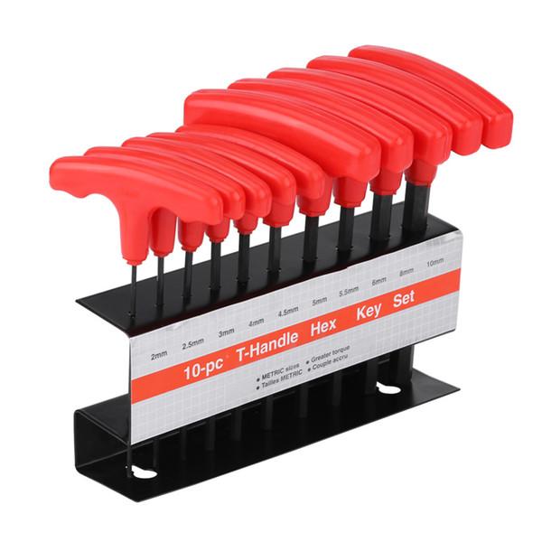 Chiave a brugola per impieghi pesanti a brugola da 10 pezzi Chiave a brugola per chiave a brugola da 6 pollici in acciaio al carbonio ad alta resistenza