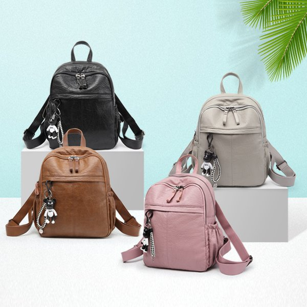 Genuine Leather Both Shoulders Package Woman All-match Tide Leisure Time Cowhide Will Capacity Mommy Travel Woman Backpack