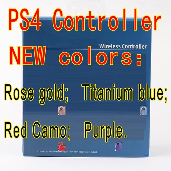 De nouvelles couleurs pour PS4 contrôleur sans fil Bluetooth Vibration Manette Gamepad Manette de jeu pour Sony Play Station avec Retail box