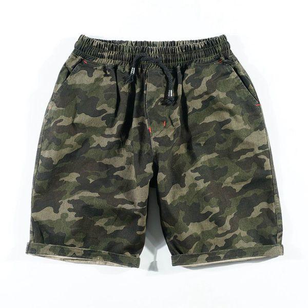 Camouflage Shorts Men Military Style Casual Camo Shorts Men's Summer New Fashion Streetwear Clothe Elastic Waist Beach Shorts For Man