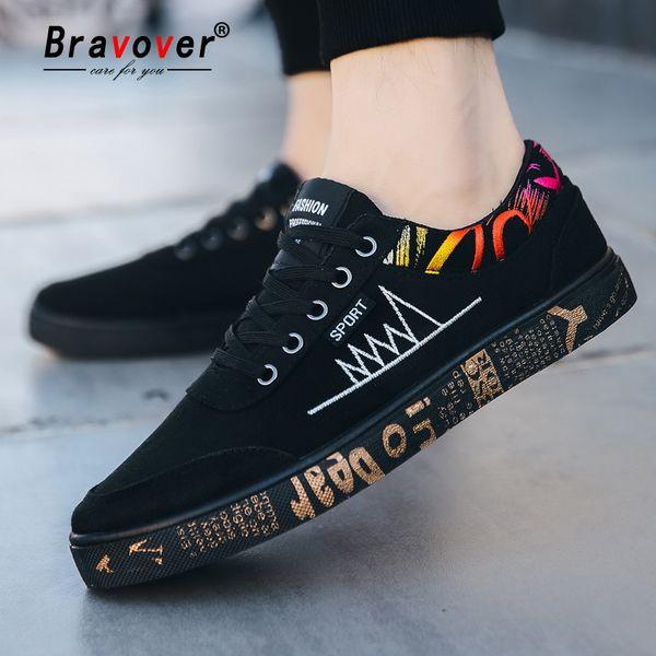 3d3cf23e3 New Outono Moda Plana Denim Sapatas de Lona Para Homens 2018 Graffiti Sapatos  Sólidos Lace-