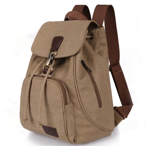 Vintage Canvas Men/Women Backpacks Teenager School Bags Large Shoulder Backpacks men Casual Travel Bag 14 inch Laptop Backpack