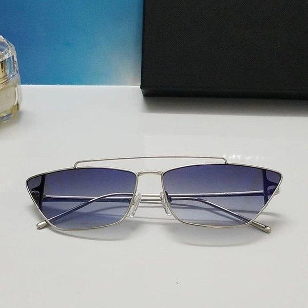 lente azul plata