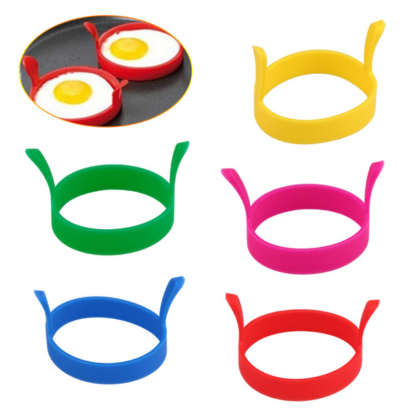 1pcs Silicone Fried Egg Pancake Ring Portable Round Shaper Eggs Mould For Cooking Breakfast Frying Pan Oven Kitchen Gadgets