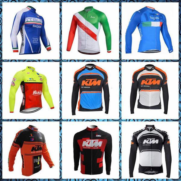 2019 New ITALIEN KTM Team Radfahren mit langen Ärmeln Trikot Männer Frühling Herbst Die New Compressed Trikot Fahrradabnutzung Great value U51516