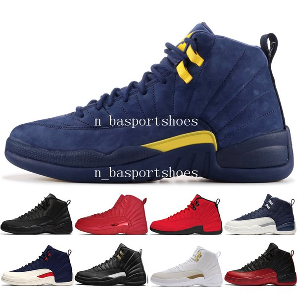 12s Winterized WNTR Gym Red Michigan Mens Basketball Shoes The Master Flu Game Taxi Class of 2003 12 men sports sneakers designer trainers