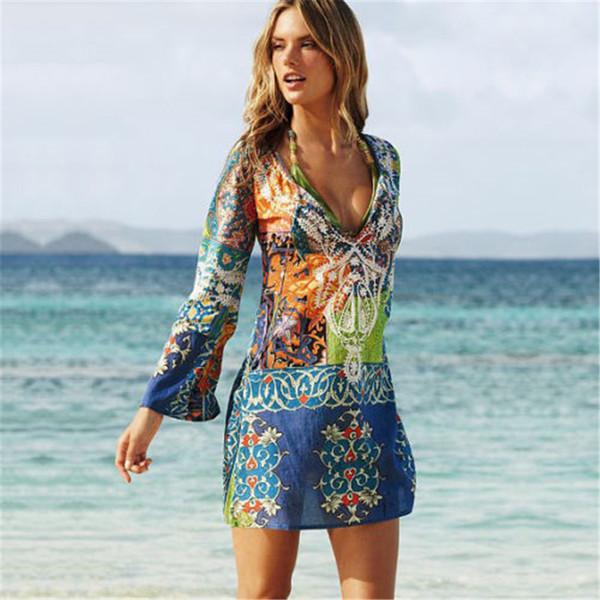 Collier pour femmes robes de vacances couverture de plage Pengqiao