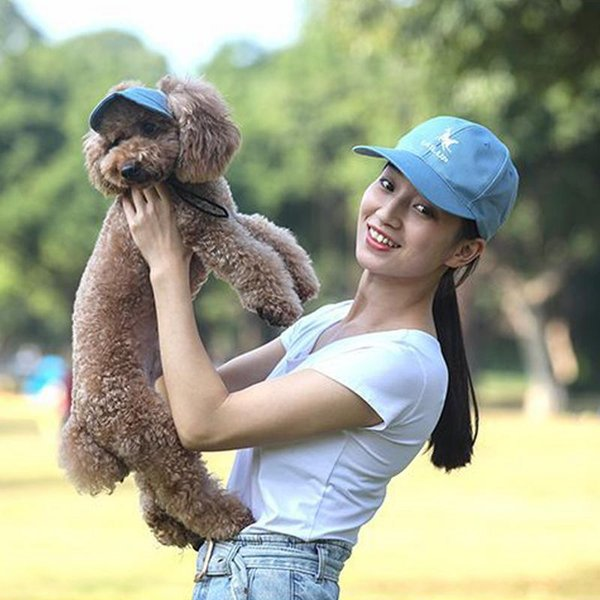 TAILUP Perro Béisbol Visor Sombrero Lienzo Cat Caps Cachorro Padre Hijo Niño Sunbonnet Suministros para mascotas para excursiones al aire libre Viajes