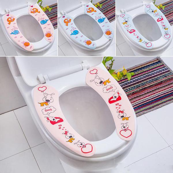 Теплый мягкий чехол для унитаза нетканые ткани ванная комната Closestool чехол для сиденья липкий унитаз украшения дома