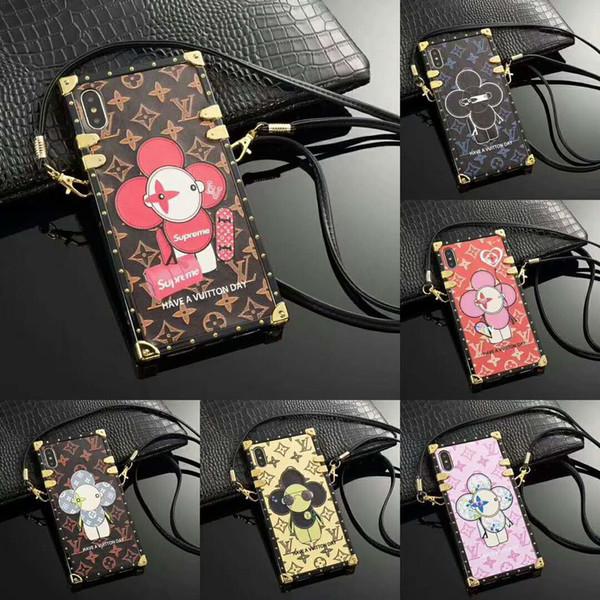 19SS Новый дизайнерский чехол для телефона для IphoneX / XS XR XSMAX 7P / 8P 7/8 6P / 6sP 6 / 6s Франция Италия Роскошный чехол для Iphone с ремешками оптом