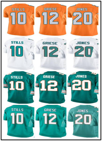 reputable site e8699 3c39c 2018 2018 Miami Dolphins Jerseys #10 Kenny Stills 12 Bob Griese 20 Reshad  Jones Jerseys#YOUTH# Men'S Stitched Rugby Jerseys From Toptop_jersey06, ...
