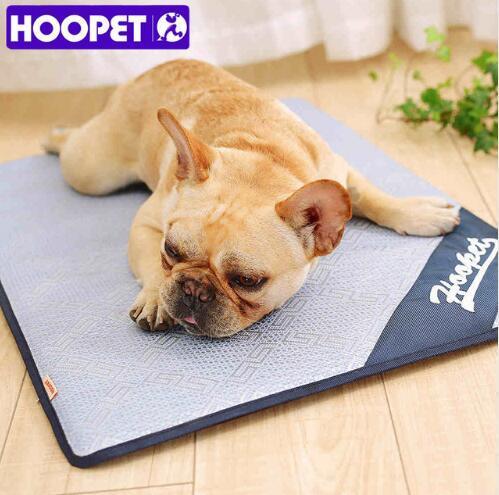 Hoopet Pet Dog Summer Cooling Mat Floor Mats Rattan Sleeping Bed Cold Pad Ice Cushion Anti Damp Foam Mat 4 Sizes