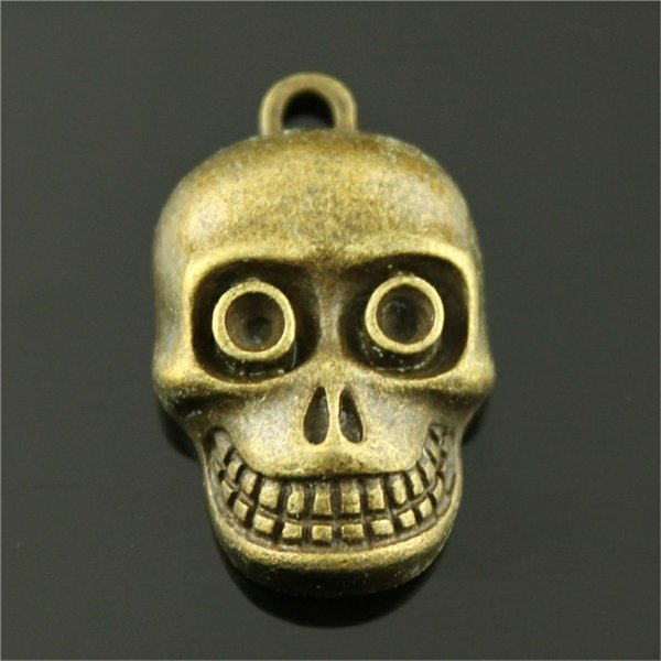50pcs Charm Skull Vintage Skull Charms Pendant For Jewelry Making Antique Bronze Color Skull Charms 19x32mm