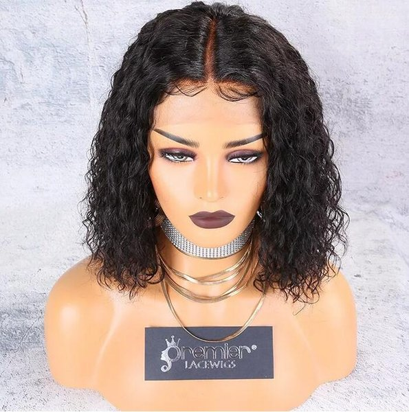 8a Lace Front Wigs Brazilian Remy Hair Wigs 4.5 Inches Deep Parting 150% Density Curly Human Lace Wigs