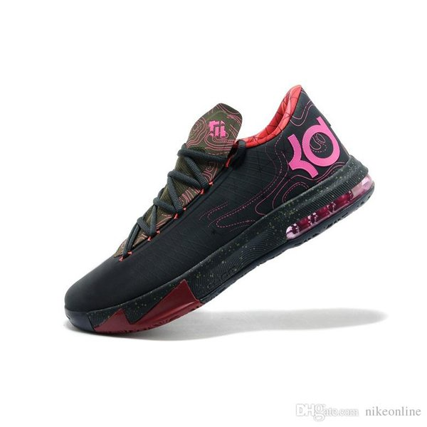 Cheap Mens what the KD 6 vi low tops basketball shoes Aunt Pearl Pink BHM MVP Blue Gold Floral Kevin Durant sneakers boots /;/;/