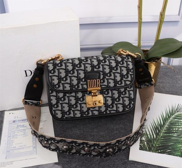 Borsa a tracolla con pochette moda donna 2019 Clamshell Piccola borsa con tracolla elegante Ms. Messenger Messenger Taglia: 24 * 16 * 8fashion bag