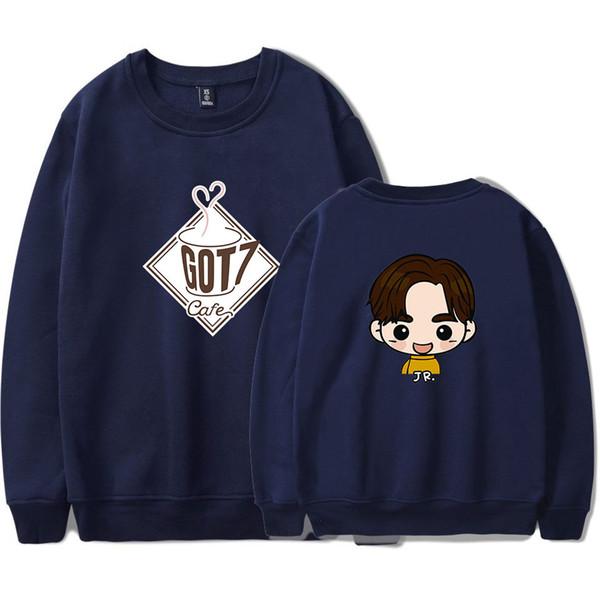 boy band GOT7 Sudaderas 2019 nuevos fabricantes de venta Corea del Sur gran tamaño suelta sudadera con capucha Unisex para la universidad college hoodie