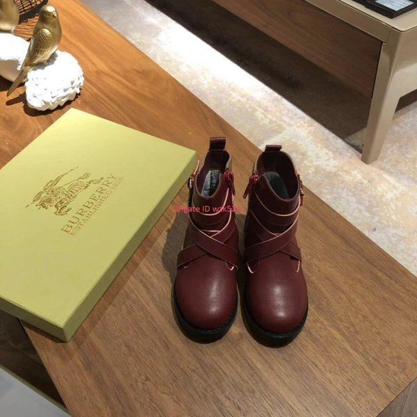 Zapatos de diseño para niños Botas con forro de terciopelo y doble cremallera para niñas Suelas antideslizantes impermeables Eursize 26-35