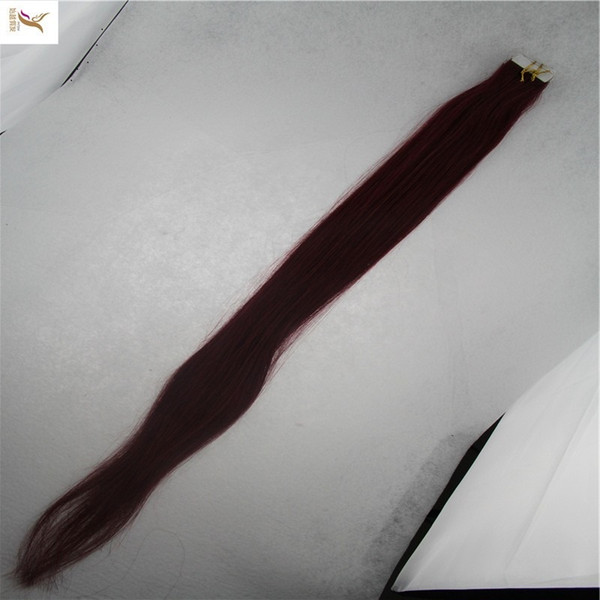 Pure Color Brazilian Remy Tape In Human Hair Extensions 100% Human Hair 2.5g/stand 40pcs/pack Tape In Straight Hair Skin Weft