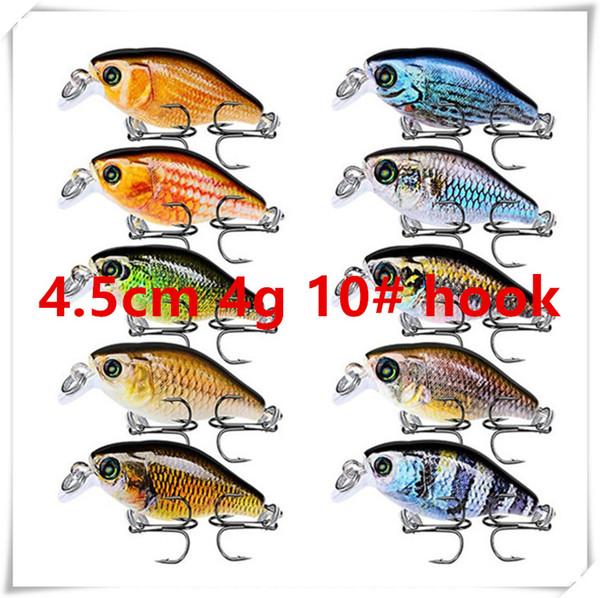 4.5cm 4g 10# hooks