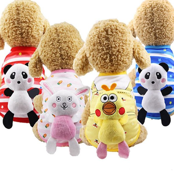 New Dog Vest Cat Cotton Puppy T-shirt Doll Can Unload Pet Cat Supplies Jacket Knit Cute Princess Puppy Costume