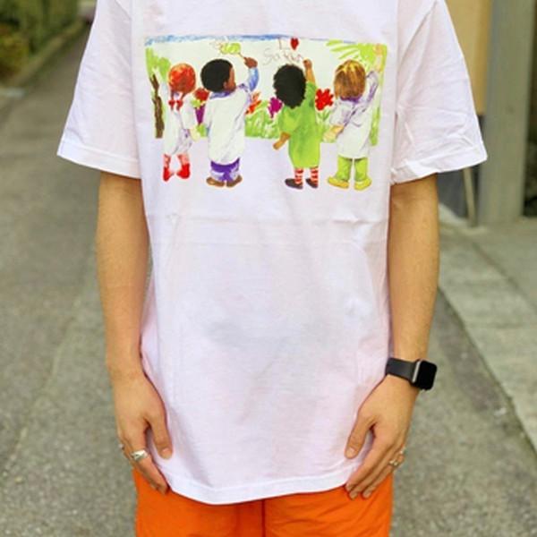 19SS Niños Camiseta Niños Pintura Graffiti Mangas cortas Retro Moda de calle Algodón Hombres y mujeres Pareja nos Tamaño 7 colores Camiseta HFSSTX147