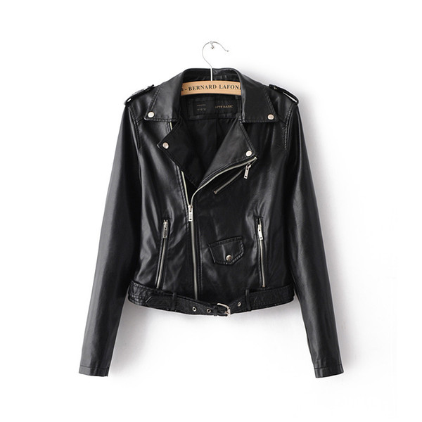 brand quality limited sale compare price Woman Off Shoulder Faux Leather Jacket Women Motorcycle Jacket Coat Outwear  Short Zipper Imitation Leather Women'S Loose Waterproof Jackets Womens ...