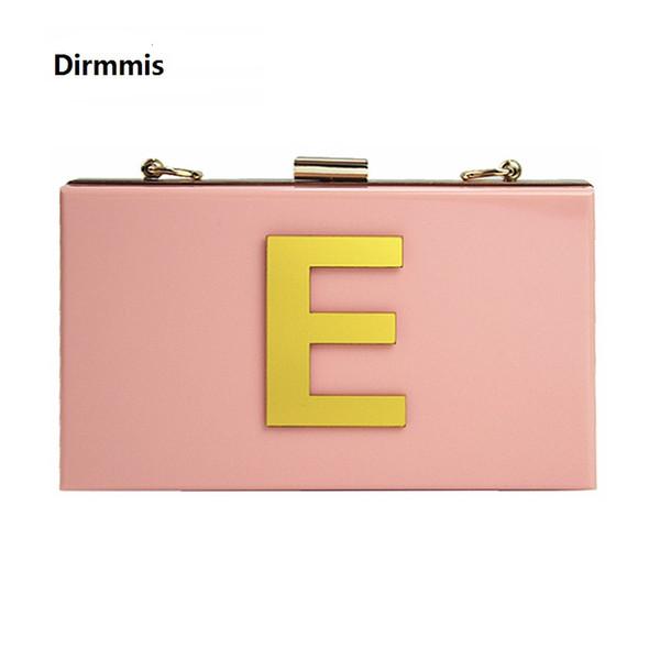 2018 neue brieftasche buchstaben marke mode abendtasche frau niedlich acryl rosa abendtasche luxus edle schulter elegante kupplung # 88632