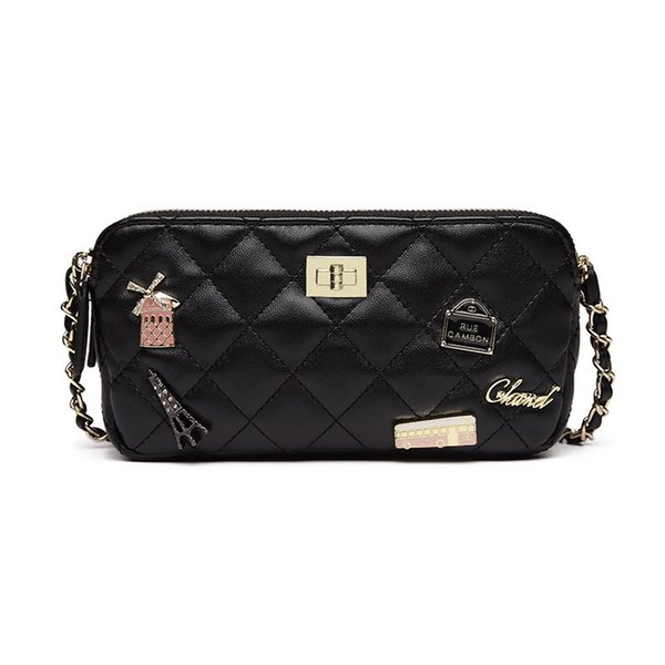 Black Classic Crossbody Shoulder Bag for Women Quilted Purse With Metal Chain Strap Girls Side Purse and Shoulder Handbags Designer Clutch