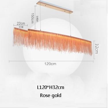 L120cm oro rosa