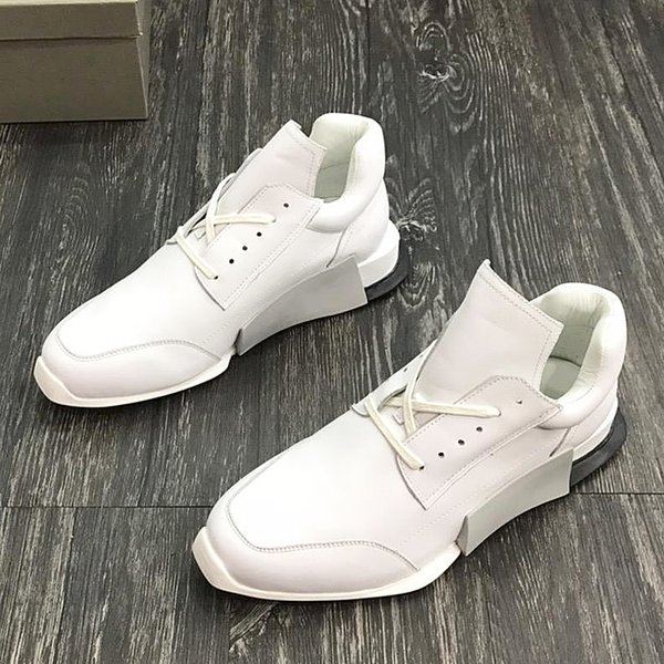 2018 American luxury brand trend men's sports shoes with exquisite outsole leather strap design high-grade outdoor casual running qr