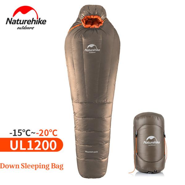 NatureHike Mumya Uyku Tulumu Ultralight Açık Kamp Yetişkin Sıkıştırma Çuval Ile Uyku Tulumu Sıcak Kış-20 ~ -10 Santigrat Derece C18112601
