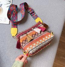 Ultra petit sac populaire femme 2019 nouveau designer farceur style intérieur de style étranger style ethnique large nylon sangle sac croix épaule B101252
