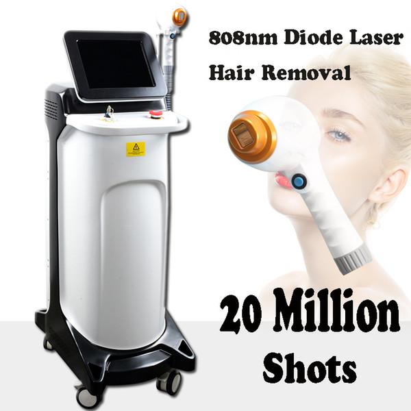 Laser de diodo de alta qualidade depilação depilação a laser diodo 808nm depilação a laser facial mais de 20 milhões de tiros