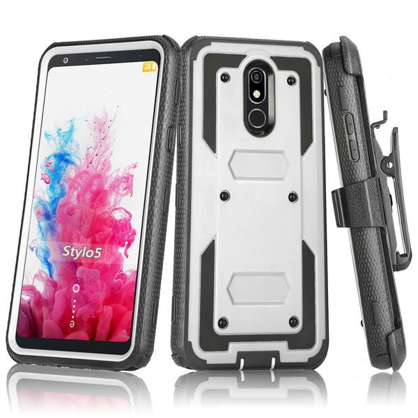 For Motorola E6 Z4 G7 Play Plus Heavy Duty Shockproof Holster swivel Belt Clip Rotatable Kickstand Defender Phone Case Cover