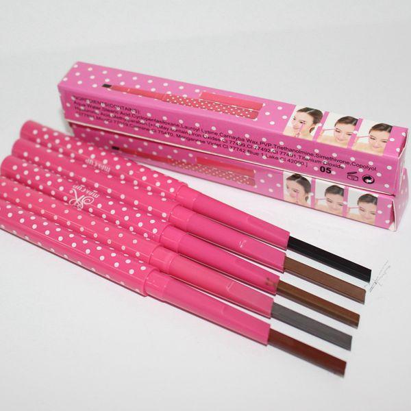 5 цветов фея Брови Расширители Liner Карандаши водонепроницаемый Продолжительный макияж черный Браун Карандаши Pen Макияж Инструменты RRA2088