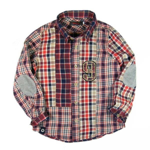 top popular 2 -10 year Brand Baby Boys long sleeves shirt grid tops kids autumn shirt pure cotton Children's clothes 2021