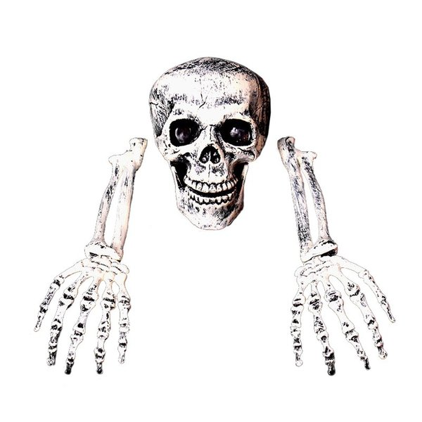Halloween decorations skeleton hand bone simulation skeleton props bar chamber of horrors skeleton furnishings for Halloween party