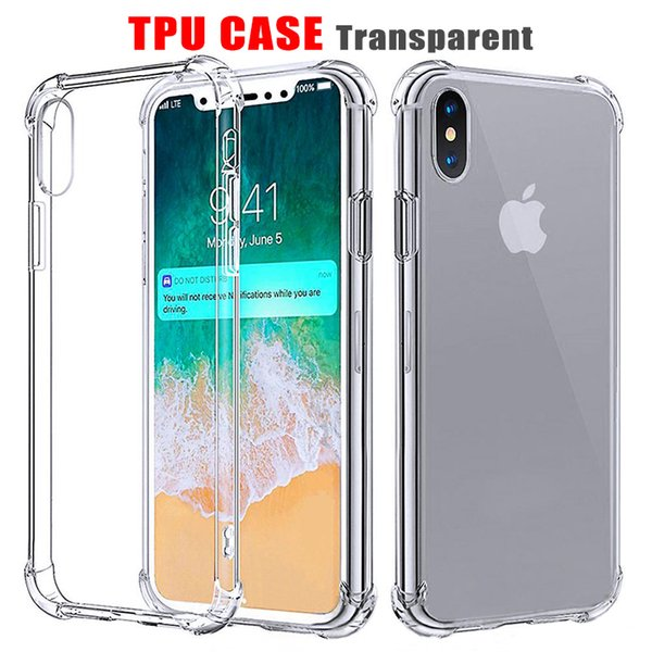 best selling For iPhone 11 2019 iPhone X Soft TPU Phone Cases Shockproof Back Cover Transparent Case Soft Thicken Clear Anti-knock with OPP pacakge
