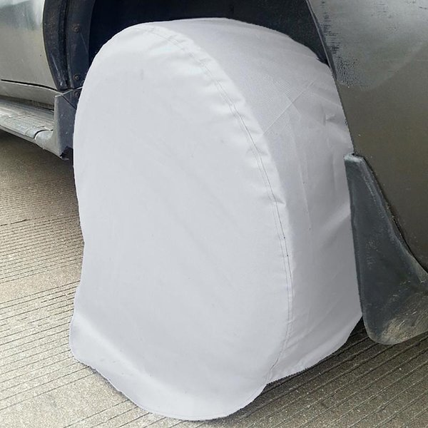 top popular 4pcs lot Tire Covers Aluminum Film Tire Sun Protectors Universal Fits 27 To 29 Tire Diameters For Jeep For Truck For SUV 2020