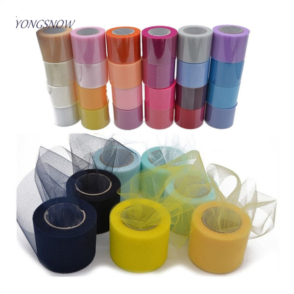 5cm*22meter Crystal Tulle Roll Organza Spool Tutu Table Runner DIY Crafts Baby Shower Wedding Party Decoration Favors Supplies