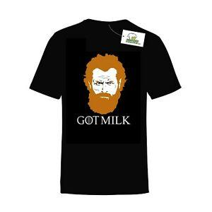 TORMUND GIANTSBANE GAME OF THRONES INSPIRED PRINTED T-SHIRT GOT MILK