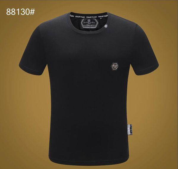 2019 gedruckt Phillip Plain T-Shirt Mode Lässig Fitness Coole Oansatz männer Bär T-shirt Sommer Kurzarm Männer Kleidung 3363