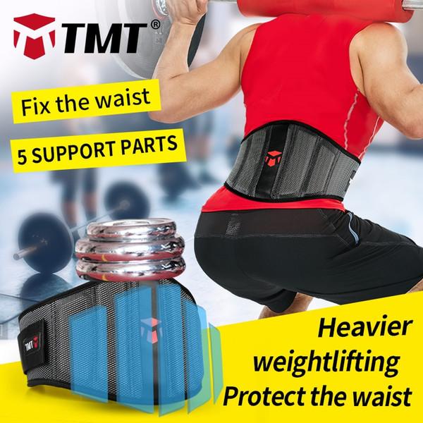 TMT Cintura per sollevamento pesi Supporto per la vita Brace Fitness Gym Powerlifting Protezione lombare della schiena per le donne Uomini Sport Sicurezza regolabile # 72365